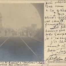 Postales: POSTAL PUENTE FERROCARRIL DE RONAIX A COURTRAI(BELGICA)23-3-1915.OCUPACION ALEMANA.MUY INTERESANTE.. Lote 27016123