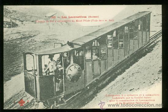 TARJETA POSTAL DE TREN. FLEURY. Nº 186. (Postales - Postales Temáticas - Trenes y Tranvías)