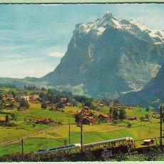 Postales: EL TREN DE GRINDELWALD (SUIZA). Lote 26666046