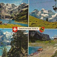 Postales: TELECABINA DE OESCHINENSEE (SUIZA). Lote 26666428