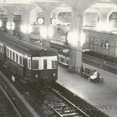 Postales: 7F-1276. POSTAL ESTACIÓN CONJUNTA RENFE-METRO. PLAZA DE CATALUNYA 1958. Lote 168689761