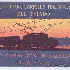 Postales: LOS FERROCARRILES ITALIANOS DEL ESTADO- (6532). Lote 27397883