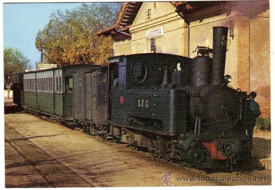 BONITA POSTAL - CARRILET SANT FELIU DE GUIXOLS-GIRONA - LOCOMOTORA - EDICIONS FERROVIARIES NÚM. 2 (Postales - Postales Temáticas - Trenes y Tranvías)