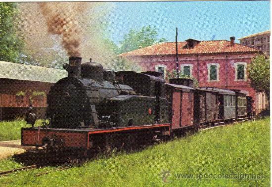 BONITA POSTAL - CARRILET OLOT-GIRONA - LOCOMOTORA - EDICIONS FERROVIARIES NÚM. 3 (Postales - Postales Temáticas - Trenes y Tranvías)