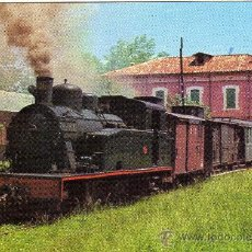 Postales: BONITA POSTAL - CARRILET OLOT-GIRONA - LOCOMOTORA - EDICIONS FERROVIARIES NÚM. 3. Lote 28211224
