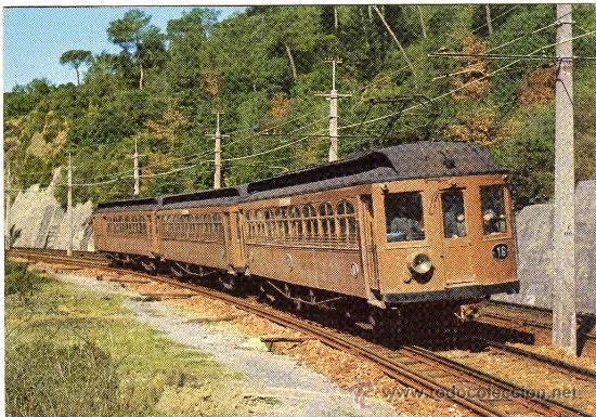 BONITA POSTAL - FF.CC. CATALUNYA - AUTOMOTOR - EDICIONS FERROVIARIES NÚM.4 (Postales - Postales Temáticas - Trenes y Tranvías)