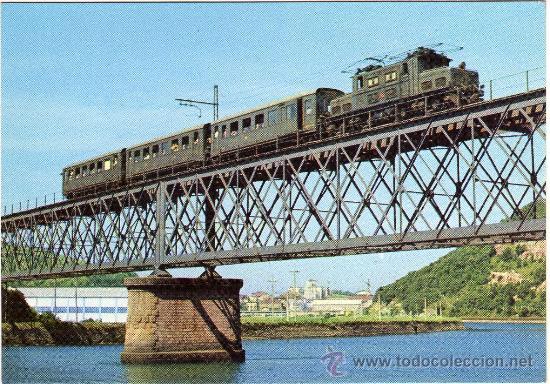 BONITA POSTAL - FERROCARRILES VASCONGADOS (ZUMAYA) - LOCOMOTORA - EDICIONS FERROVIARIES NÚM. 5 (Postales - Postales Temáticas - Trenes y Tranvías)