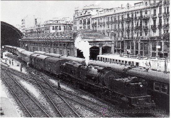 BONITA POSTAL - LOCOMOTORA GARRATT- ESTACION DE VALENCIA - EUROFER-AMICS DEL FERROCARRIL - BARCELONA (Postales - Postales Temáticas - Trenes y Tranvías)