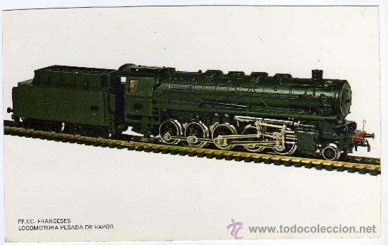 POSTAL FF.CC. FRANCESES - LOCOMOTORA PESADA DE VAPOR (Postales - Postales Temáticas - Trenes y Tranvías)