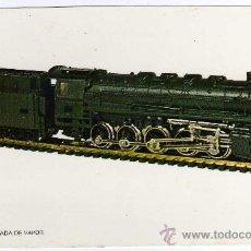 Postales: POSTAL FF.CC. FRANCESES - LOCOMOTORA PESADA DE VAPOR . Lote 28211462