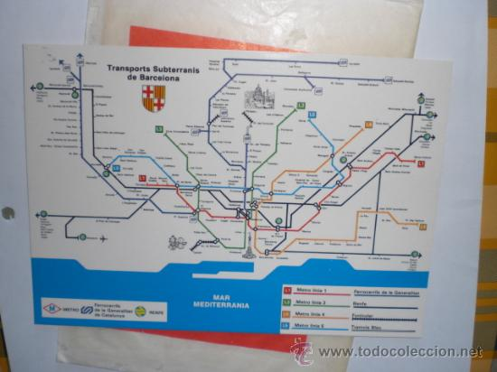 POSTAL METRO - TRANSPORTS SUBTERRANIS DE BARCELONA (Postales - Postales Temáticas - Trenes y Tranvías)
