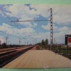 Postales: POSTAL COLECCION RENFE. SERIE IE-2. LÍNEA CÓRDOBA-SEVILLA. LORA DEL RÍO.. AÑO 1976. FERROCARRIL.. Lote 29114462