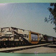 Postales: POSTAL COLECCION RENFE. SERIE M-8. VAGÓN DE 20 EJES. ALTERNADOR PARA ZORITA DE LOS CANES. AÑO 1977.. Lote 29114753