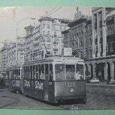 Postales: POSTAL ASOCIACIÓN AMIGOS TRANVIA ZARAGOZA. REPRODUCE PASEO INDEPENDENCIA, ZARAGOZA, 1963.. Lote 29114886