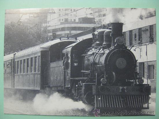 POSTAL ASOCIACIÓN AMIGOS FERROCARRIL ZARAGOZA. REPRODUCE LOCOMOTORA BALDWING. 1991. (Postales - Postales Temáticas - Trenes y Tranvías)