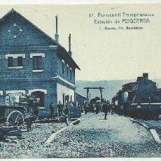 Postales: FERROCARRIL TRANSPIRENAICO ESTACION DE PUIGCERDA ROISIN. Lote 32315353