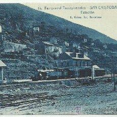 Postales: FERROCARRIL TRANSPIRENAICO SAN CRISTOBAL DE TOSAS ESTACION ROISIN 14. Lote 32315395