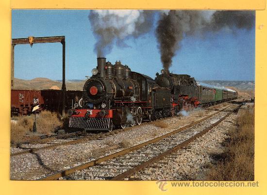POSTAL DE TRENES LOCOMOTORA VAPOR VIAJES ESPECIALES EN ARAGON Nº 270 SIN CIRCULAR (Postales - Postales Temáticas - Trenes y Tranvías)