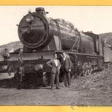 Postales: POSTAL DE TRENES LOCOMOTORA VAPOR DEL MZA EN VADOLLANO CIUDAD REAL Nº 4247 SIN CIRCULAR . Lote 32576793