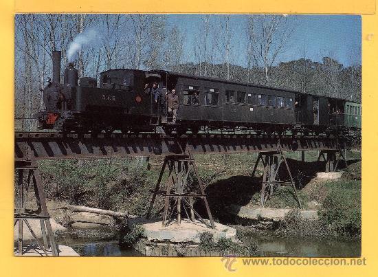 POSTAL DE TRENES LOCOMOTORA VAPOR VIAJES SAN FELIU DE GUIXOLS GERONA Nº 299 SIN CIRCULAR (Postales - Postales Temáticas - Trenes y Tranvías)