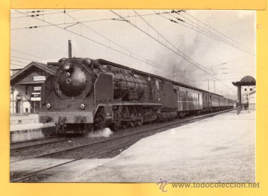 POSTAL DE TRENES LOCOMOTORA VAPOR DEL MIRANDA DE EBRO Nº 4179 SIN CIRCULAR (Postales - Postales Temáticas - Trenes y Tranvías)