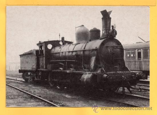 POSTAL DE TRENES LOCOMOTORA VAPOR DE BARCELONA POBLE NOU Nº 4001 SIN CIRCULAR (Postales - Postales Temáticas - Trenes y Tranvías)