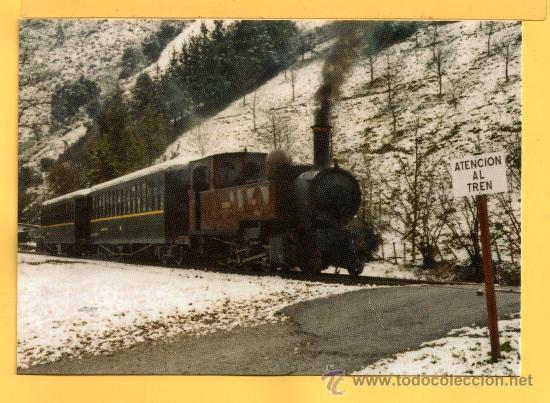POSTAL DE TRENES LOCOMOTORA VAPOR AURREA ELGOIBAR SAN SEBASTIÁN Nº 992 SIN CIRCULAR (Postales - Postales Temáticas - Trenes y Tranvías)