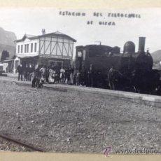 Postales: ESTACIÓN DEL FERROCARRIL DE OLESA. (FOT. OLIVER). POSTAL FOTOGRÁFICA.. Lote 33380419
