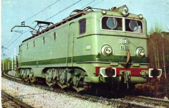 RENFE AÑO 1961 LOCOMOTORA ELECTRICA SIN CIRCULAR (Postales - Postales Temáticas - Trenes y Tranvías)