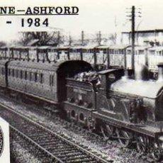 Postales: POSTAL FOTOGRÁFICA MAIDSTONE-ASHFORD MAIDSTONES EAST TRAIN APROACHING ASHFORD SIN CIRCULAR 1984. Lote 33693661