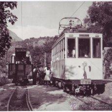 Postales: TRANVÍA FERROCARRIL DE GRANADA A SIERRA NEVADA: MOTRIZ 4 EN EL TÉRMINO DE SAN JUAN (1964). Lote 40764419