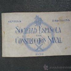 Postales: 'SOCIEDAD ESPAÑOLA DE CONSTRUCCION NAVAL' 1929. BLOCK CON 8 POSTALES DE TRENES.. Lote 34503650