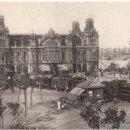 Postales: LOCOMOTORA MZA 1022 CON TREN DE MERCANCÍAS EN LA PUERTA DE LA PAZ, BARCELONA. AÑOS 1920.. Lote 34619756