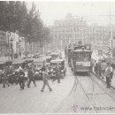 Postales: TRANVÍAS EN LA PLAZA DE CATALUÑA, BARCELONA, SOBRE EL AÑO 1918.. Lote 34620613