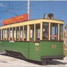 Postales - TRANVÍAS DE ZARAGOZA. COCHE NÚMERO 7, CONSTRUIDO POR CARDE Y ESCORIAZA EN 1925, RESTAURADO EN 1985. - 34847208