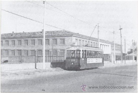 TRANVÍA DE ZARAGOZA. COCHE NÚM. 113, LÍNEAS DEL BAJO ARAGÓN Y CASABLANCA. PRINCIPIOS AÑOS 60. (Postales - Postales Temáticas - Trenes y Tranvías)