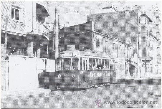 TRANVÍA DE ZARAGOZA. COCHE NÚM. 151, SERIE ``TOPOLINOS´´. PRINCIPIOS AÑOS 60 (SIGLO XX). (Postales - Postales Temáticas - Trenes y Tranvías)