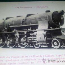 Postales: POSTAL FERROCARRIL LOCOMOTORA 4601 CAMINOS HIERRO DEL NORTE DE ESPAÑA TIPO MONTAÑA ED.FLEURY PARIS. Lote 36170400