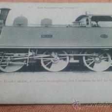 Postales: POSTAL FERROCARRIL LOCOMOTORA 47 BASINSKI CAMINOS HIERRO SUR DE ESPAÑA -LINARES-ALMERÍA- ED.FLEURY. Lote 109030890