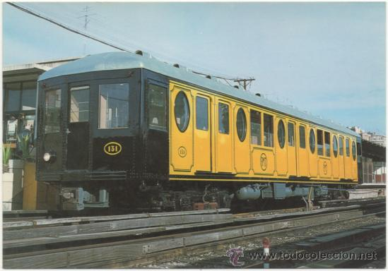 METRO DE BARCELONA. FMT SERIE 121 A 132, CONSTRUIDO POR MACOSA EN 1925. ESTACIÓN BORDETA (LÍNEA 1). (Postales - Postales Temáticas - Trenes y Tranvías)
