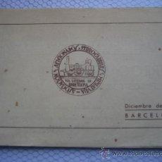 Postales: ASOCIACIÓN DE AFICIONADOS A LOS FERROCARRILES EN MINIATURA. 1946. BARCELONA. Lote 37600190