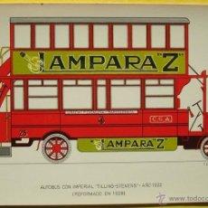 Postales: POSTAL DE AUTOBUS CON IMPERIAL ¨TILLING -STEVENS¨AÑO 1922 REFORMADO EN 1928 NO.30 . Lote 40290763