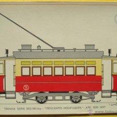Postales: POSTAL DE TRANVIA SERIE 302/365 BIS ¨TRECIENTOS MODIFICADOS¨AÑO 1936-1937 NO.34 . Lote 40290840
