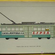 Postales: POSTAL DE TRANVIA SERIE 1251/1310 ¨MAQUITRANS¨ NO.41 AÑO 1944. Lote 40290975
