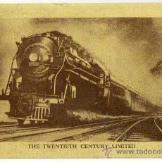 Postales: THE TWENTIETH CENTURY LIMITED. OLD POSTAL CARD. ORIGINAL. 1950S. Lote 40339693