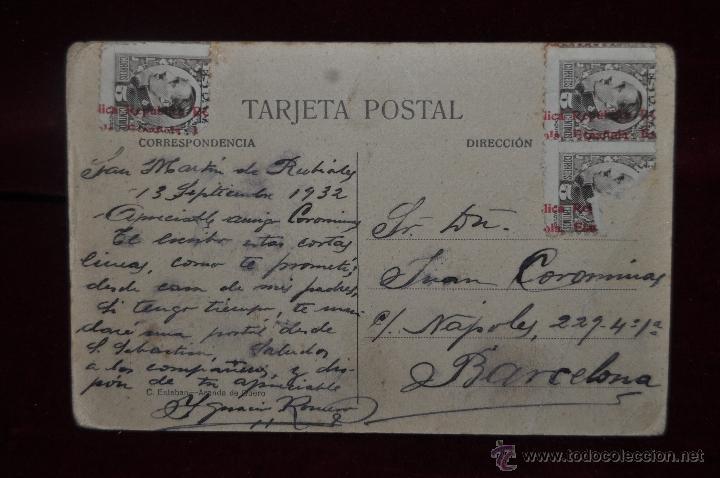 Postales: ANTIGUA POSTAL DE ESTACIÓN DEL FERROCARRIL. ARANDA DE DUERO. ESCRITA Y CIRCULADA - Foto 2 - 41000285
