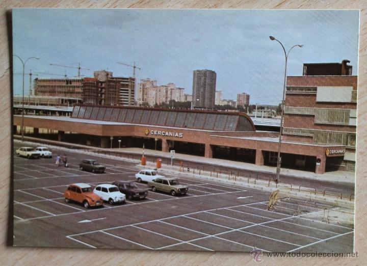 POSTAL COLECCION RENFE. SERIE E-19. ESTACIÓN DE MADRID CHAMARTÍN. EDITADA EN 1977. (Postales - Postales Temáticas - Trenes y Tranvías)