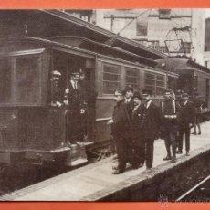 Postales: BARCELONA/ PLAÇA CATALUNYA AÑO 1919 - SOLDATS D'ENGINYERS CONDUINL TREN DE SARRIA - Nº 4221 - NUEVA. Lote 222575465