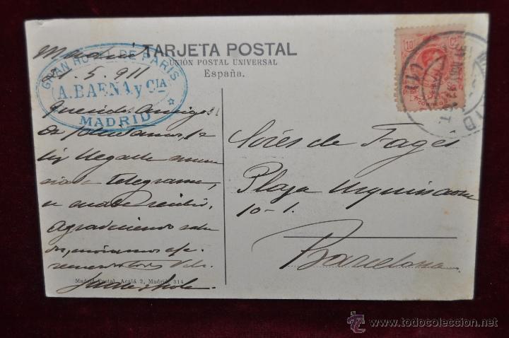 Postales: ANTIGUA POSTAL DE MADRID. ESTACION DEL NORTE. CIRCULADA - Foto 2 - 42927212