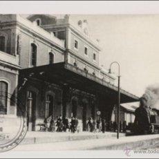 Postales: POSTAL EDITREN VAPOR EN NEGRO Nº 157 - TREN VIAJEROS ENTRANDO EN ESTACIÓN EL MASNOU, BARCELONA. 1930. Lote 117698498